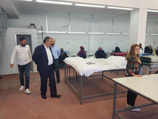 Ladik ilçesinde açılan tekstil atölyesi