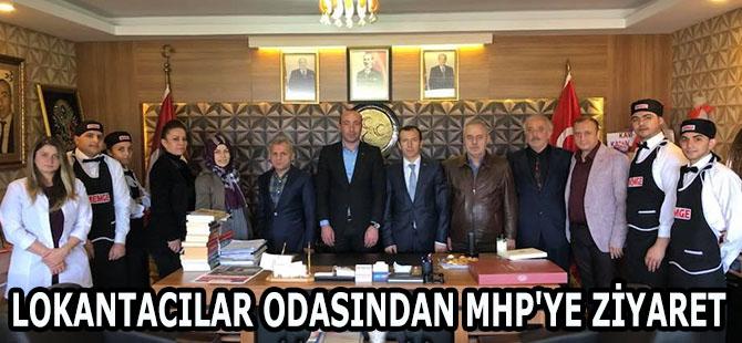 LOKANTACILAR ODASINDAN MHP'YE ZİYARET