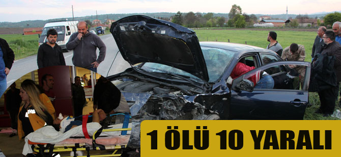 Feci Kaza 1 ölü 10 yaralı