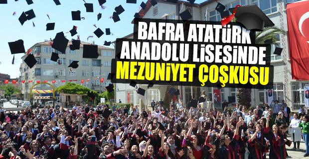 Bafra Atatürk Anadolu Lisesinde Mezuniyet Coşkusu