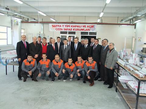 Bafra cezaevinde pvc atölyesi açıldı