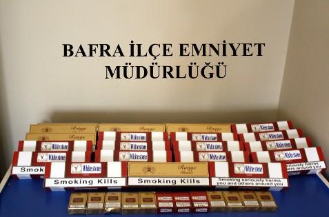 Bafra'da 240 Paket Kaçak Sigara