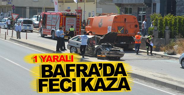 Bafra'da Feci Kaza 1 Yaralı
