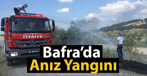 Bafra'da Anız Yangını