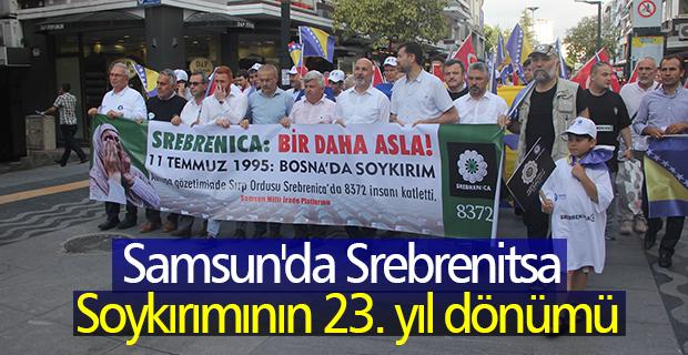 Samsun'da Srebrenitsa soykırımının 23. yıl dönümü