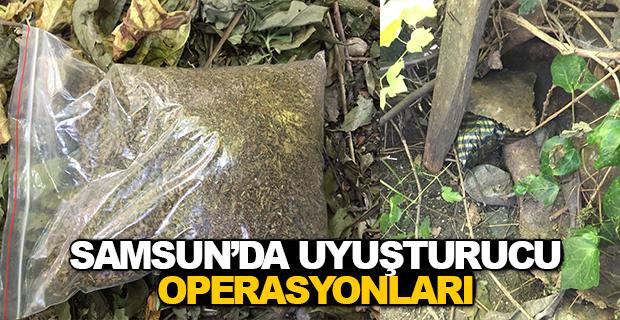 Samsun'da Uyuşturucu Operasyonları