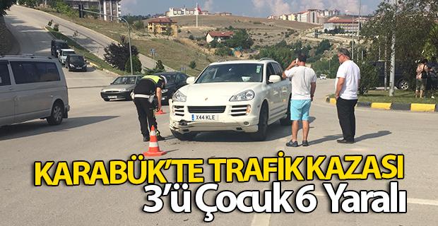 Karabük'te trafik kazası: 3'ü çocuk, 8 yaralı