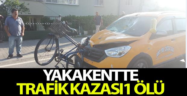 Samsun'da taksinin çarptığı bisikletli öldü