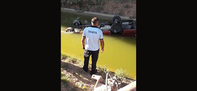 Su Kanalına Uçan Aracın Sürücü Öldü