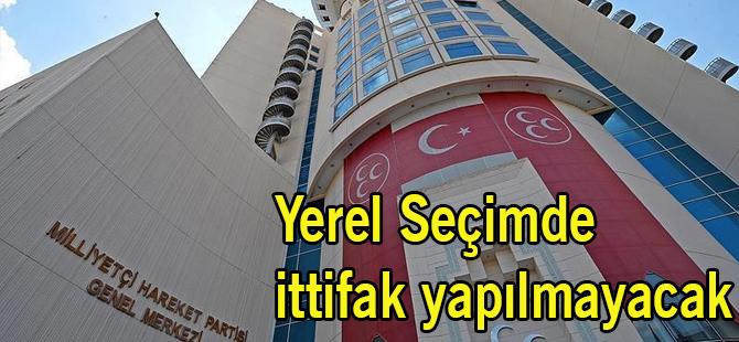 MHP Yerel Seçimde İttifak Yapmayacak