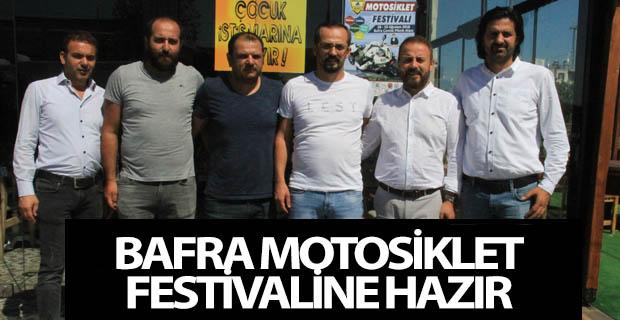 Bafra Motosiklet Festivaline Hazır.