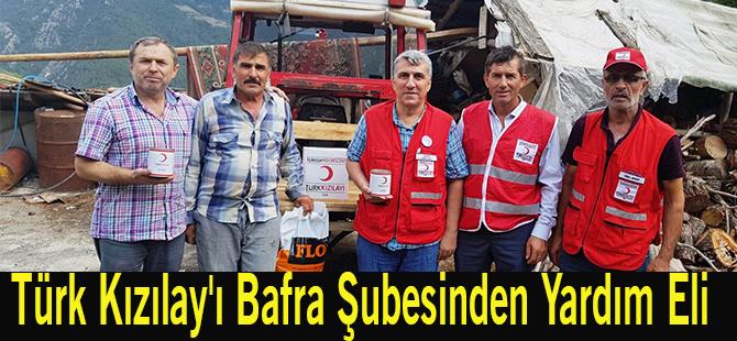 Türk Kızılay'ı Bafra Şubesinden Yardım Eli