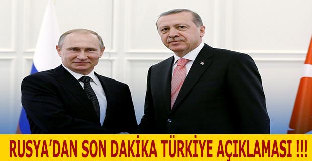 Rusya'dan Son Dakika Türkiye Açıklaması !!!