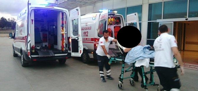 Bafra`da Kız Arkadaşı Tarafından Bıçaklandı