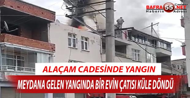 Alaçam Caddesinde Yangın !!!