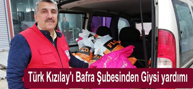 Türk Kızılay'ı Bafra Şubesinden Giysi yardımı