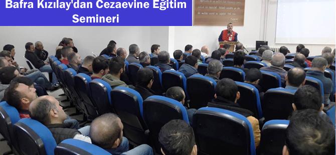 Bafra Kızılay'dan Cezaevine Eğitim Semineri