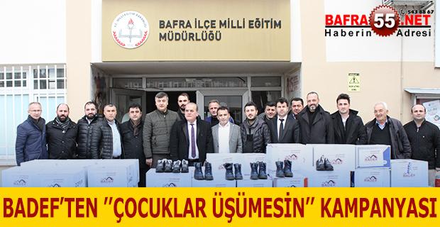 BADEF'TEN ''ÇOCUKLAR ÜŞÜMESİN'' KAMPANYASI