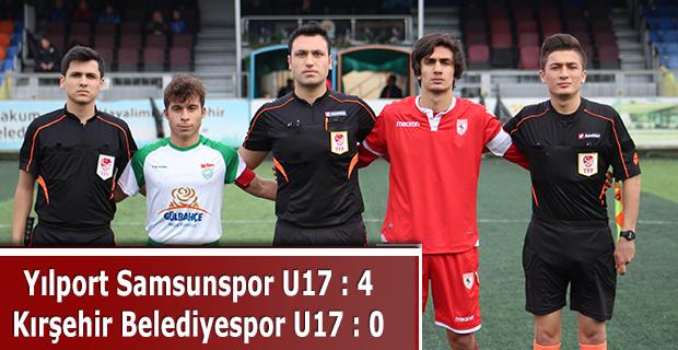Yılport Samsunspor U17 - Kırşehir Belediyespor U17: 0 - 4