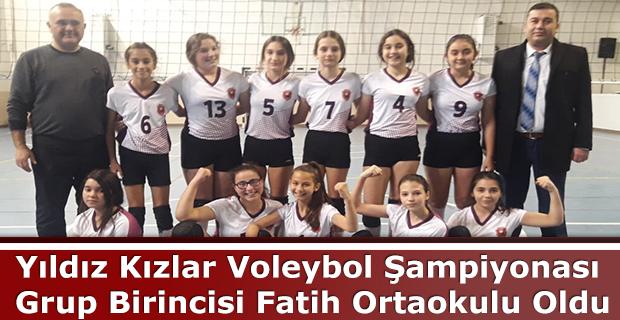 Yıldız Kızlar Voleybol Şampiyonası Grup Birincisi Fatih Ortaokulu Oldu