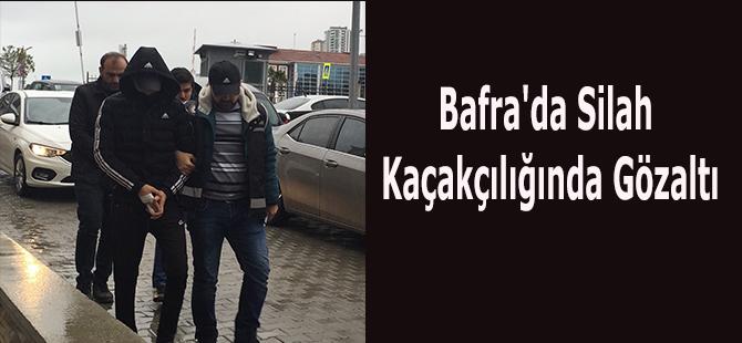 Bafra'da Silah Kaçakçılığında Gözaltı