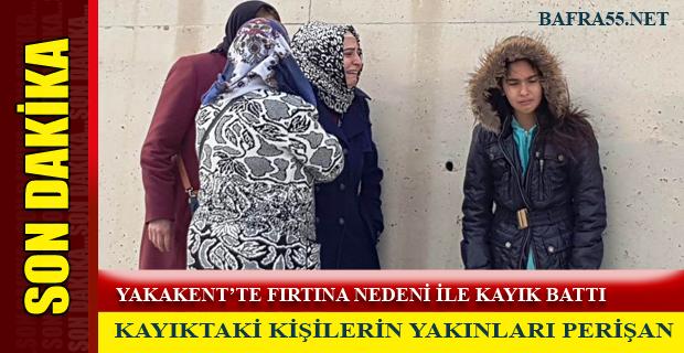 YAKAKENT'TE FIRTINA NEDENİ İLE KAYIK BATTI