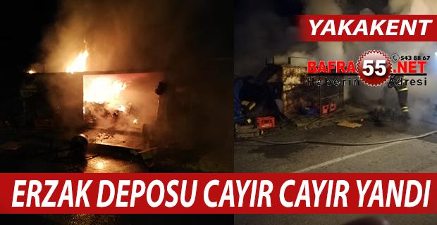 YAKAKENT'TE ERZAK DEPOSU CAYIR CAYIR YANDI