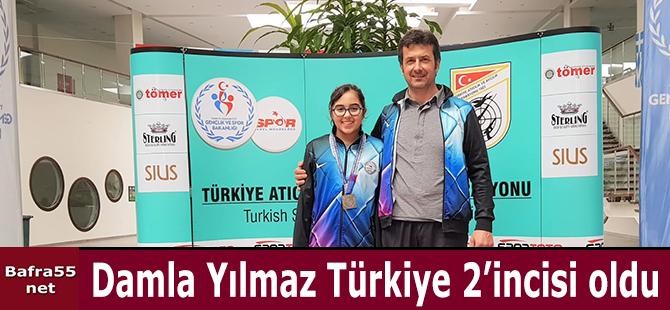 Damla Yılmaz Türkiye 2'incisi oldu