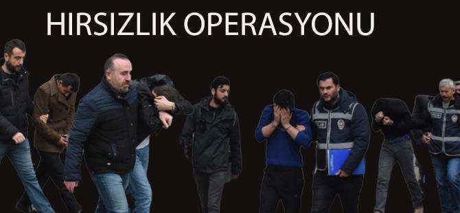 Samsun'da Hırsızlık Operasyonu 11 Gözaltı