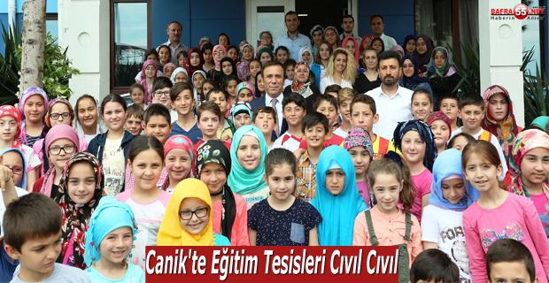 Canik'te eğitim tesisleri cıvıl cıvıl