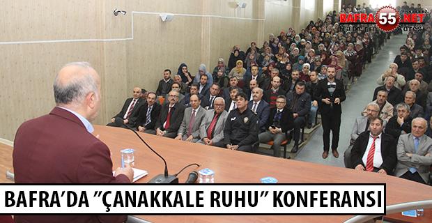 """""""ÇANAKKALE RUHU"""" KONULU KONFERANS DÜZENLENDİ"""