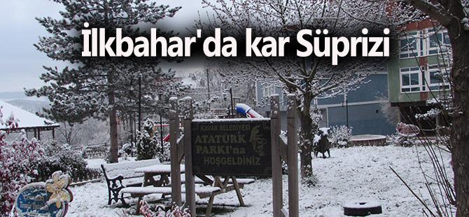 İlkbahar'da kar Süprizi