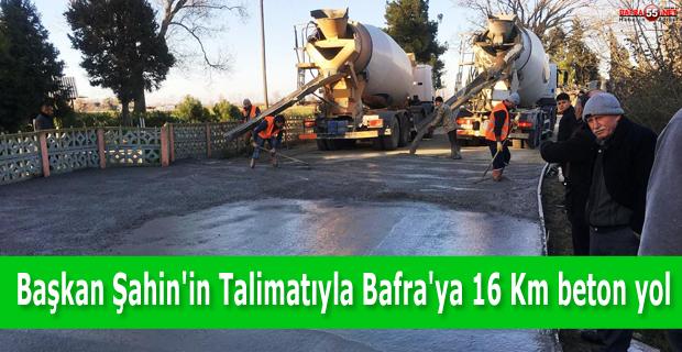 Başkan Zihni Şahin'in Talimatıyla Bafra'ya 16 Kilometre Beton Yol Başladı