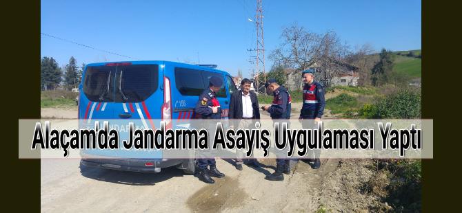 Alaçam'da Jandarma Asayiş Uygulaması Yaptı