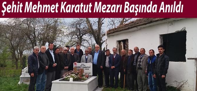 Şehit Mehmet Karatut Mezarı Başında Anıldı