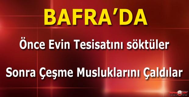 Bafra'da Hırsızlar İşine Yarayacak Her Şeyi Çaldı