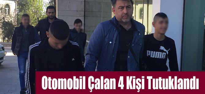 Otomobil Çalan 4 Kişi Tutuklandı