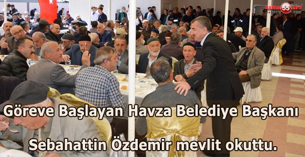 Havza Belediye Başkanı Sebahattin Özdemir Mevlit Okuttu