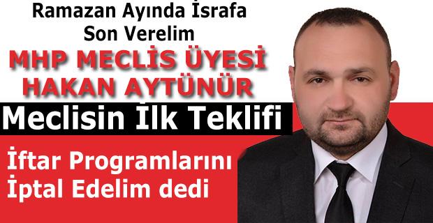 """HAKAN AYTÜNÜR;""""İLK ÖNERİSİ TAKDİR TOPLADI"""""""