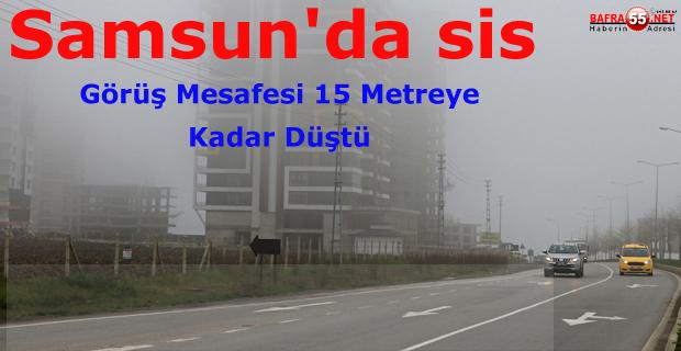 Samsun'da Sis