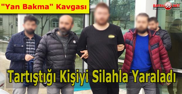 """Samsun'da """"Yan Bakma"""" Kavgası"""