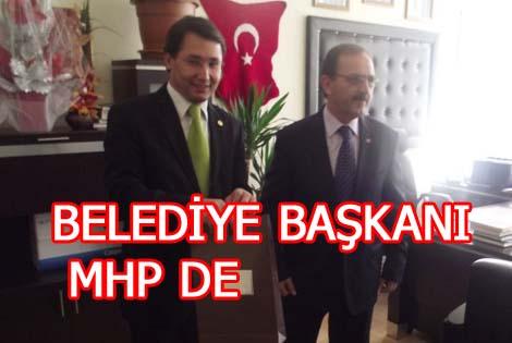 BAŞKAN ZİHNİ ŞAHİN MHP'Yİ ZİYARET ETTİ