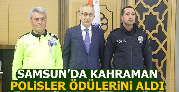 Samsun'da Kahraman Polisler Ödüllerini Aldı
