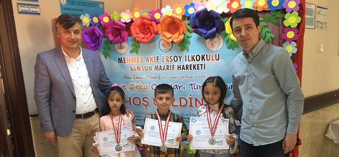 Bafra'da Akıl ve Zeka Oyunları Turnuvası sona erdi