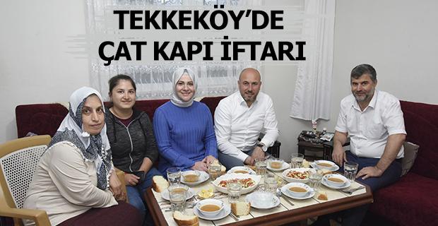 Tekkeköy'de Çat Kapı İftarı