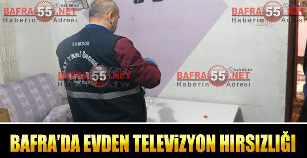 Bafra'da Evden Televizyon Hırsızlığı