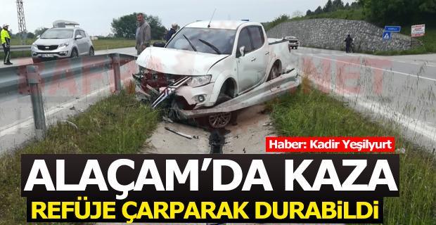 Alaçam Yolunda Trafik Kazası