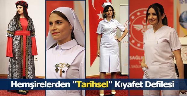 """Hemşirelerden """"Tarihsel"""" Kıyafet Defilesi"""