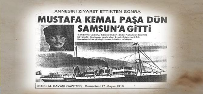 Mustafa Kemal Paşa Samsun'a böyle çıktı