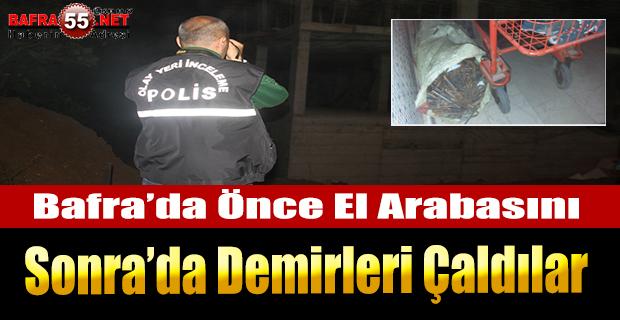 Bafra'da İnşaattan Hırsızlık
